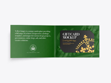 Paper Gift Card Mockup
