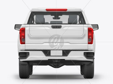 Pickup Truck Mockup - Backup View