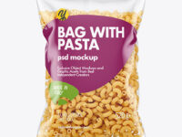 Plastic Bag With Chifferini Pasta Mockup