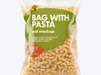 Matte Plastic Bag With Chifferini Pasta Mockup