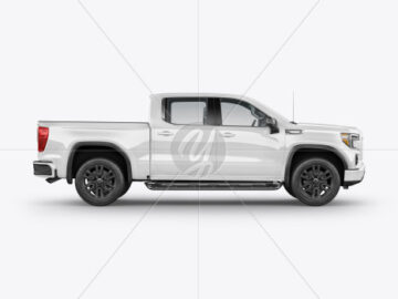 Pickup Truck Mockup - Side View