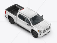 Pickup Truck Mockup - Half Side View (high angle shot)