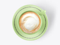 Coffee Cup w/ Latte Mockup