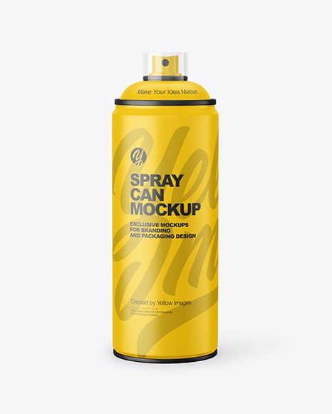 Matte Spray Can Mockup