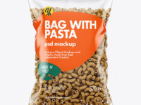 Whole Wheat Chifferini Pasta Bag Mockup