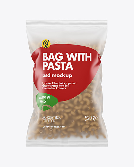 Whole Wheat Chifferini Pasta Frosted Bag Mockup