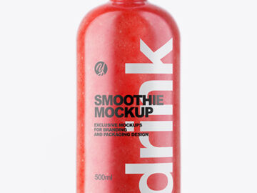 Watermelon Smoothie Bottle Mockup