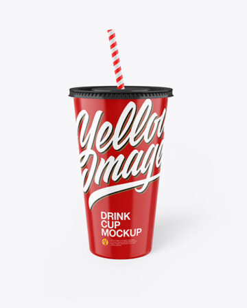 Glossy Drink Cup Mockup