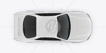 Sport Car Mockup - Top View