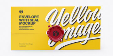 Paper Envelope With Seal Mockup