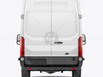 HQ Panel Van Mockup Back View
