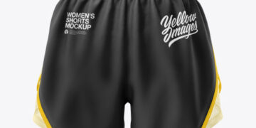 Women's 2 in 1 Shorts Mockup
