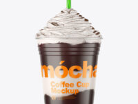 Coffee Cup with Cocoa Powder Topping Mockup