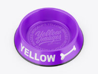 Glossy Pet Feeding Bowl Mockup