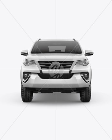 Off-Road SUV Mockup - Front View