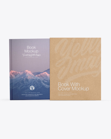 Fabric Hardcover Book With Kraft Cover Mockup