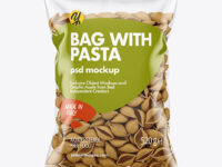 Whole Wheat Conchiglie Pasta Bag Mockup