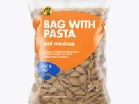Whole Wheat Conchiglie Pasta Matte Bag Mockup