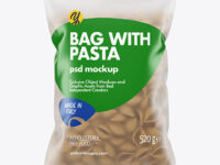 Whole Wheat Conchiglie Pasta Frosted Bag Mockup