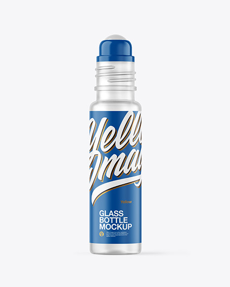 Frosted Glass Roll-On Deodorant Mockup