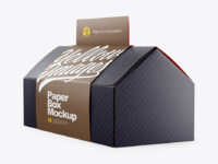 Folding Matte Paper Box with Label Mockup - Half Side View
