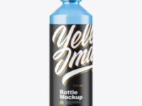 Blue Plastic Bottle Mockup
