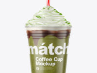 Coffee Cup with Matcha Powder Topping Mockup