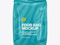 Glossy Food Bag Mockup - Front View