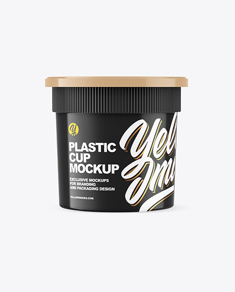 Glossy Plastic Cup Mockup