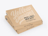 Two Kraft Pizza Boxes Mockup