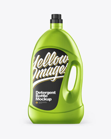 Metallic Detergent Bottle Mockup