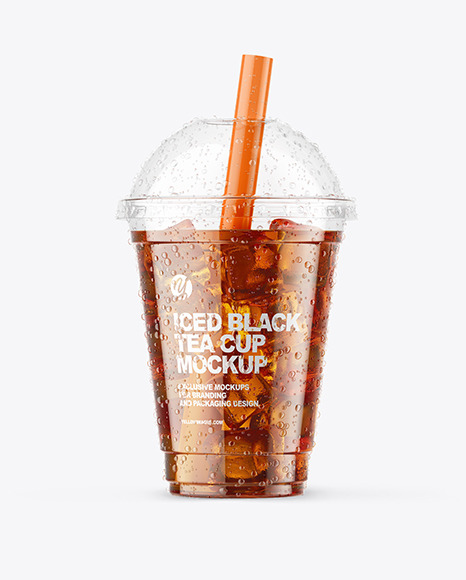 Iced Black Tea Cup Mockup