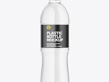 Clear Plastic Water Bottle Mockup