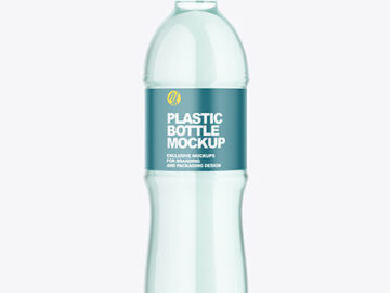 Green Plastic Water Bottle Mockup