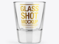 Empty Glass Shot Mockup
