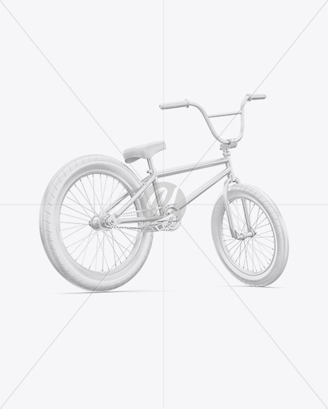 BMX Bicycle Mockup - Back Half Side View