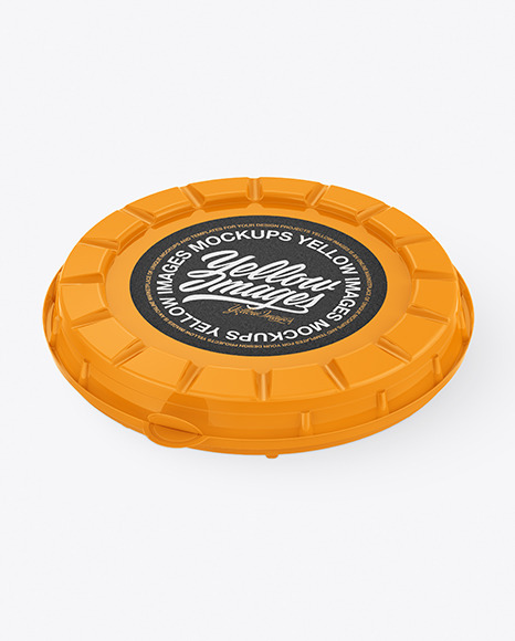 Glossy Round Pizza Box Mockup