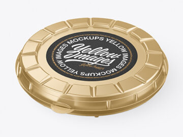 Metallized Round Pizza Box Mockup