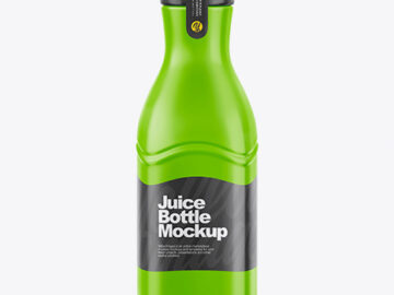 Juice Bottle Mockup - Front View