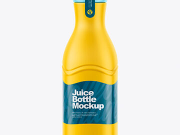 Matte Juice Bottle Mockup - Front View