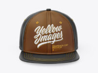 Leather Snapback Cap Mockup