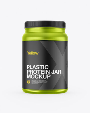 Metallized Protein Jar Mockup