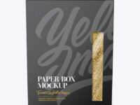 Paper Box with Bulgur wheat Mockup