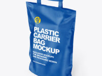 Matte Carrier Bag Mockup