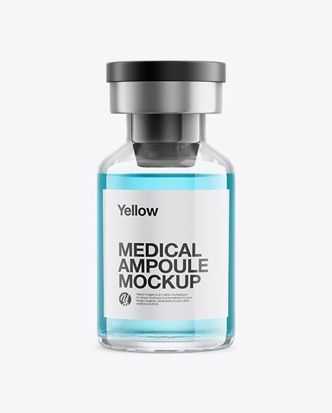 Medical Ampoule Mockup - Front View