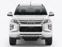 Pickup Truck Mockup - Front View