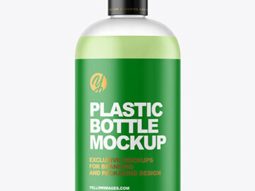 Frosted Liquid Soap Bottle Mockup