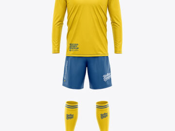Men's LS Full Soccer Kit - Front View