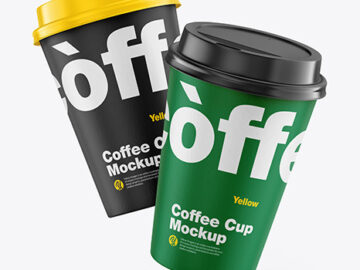 Paper Coffee Cups Mockup