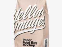Kraft Food Bag Mockup – Half Side View